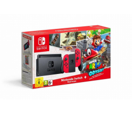 Nintendo Switch Red Joy-Con Super Mario Odyssey (045496452391)