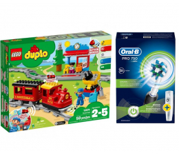 Oral-B Pro 750 + LEGO DUPLO Pociąg parowy (320203+432466)