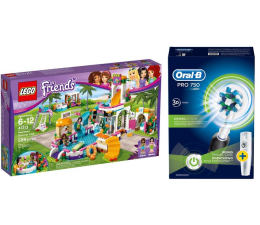 Oral-B Pro 750 + LEGO Friends Basen w Heartlake (320203+343307)