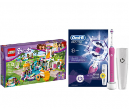 Oral-B PRO 750 Pink + LEGO Friends Basen w Heartlake (320204+343307)