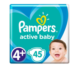 Pampers Active Baby 4+ 10-15kg 45szt  (8001090950017)