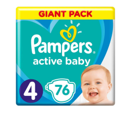 Pampers Active Baby 4 9-14kg 76szt Zapas (8001090949615)