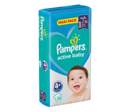 Pampers Active Baby 4+ Maxi 10-15kg 53szt (8001090950970)