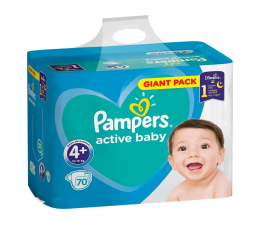 Pampers Active Baby 4+10-15kg 70szt ( 8001090949813)