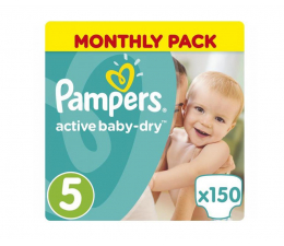 Pampers Active Baby 5 Junior 150 szt. Zapas na miesiąc  (8001090172594)