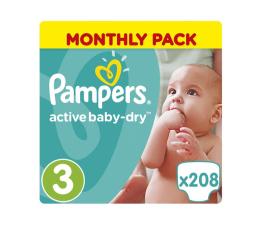 Pampers Active Baby Dry 3 Midi 5-9kg 208szt Na Miesiąc (8001090172518 MBPlus)