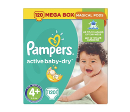 Pampers Active Baby Dry 4+ 9-16kg 120szt Na Miesiąc (8001090459510 MB)