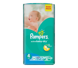 Pampers Active Baby Dry 4 Maxi 7-14kg 58szt (4015400735977 EconomPack)