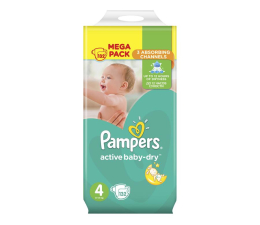 Pampers Active Baby Dry 4 Maxi 8-14kg 132szt Na Miesiąc (8001090459480 MB)