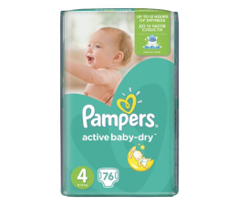Pampers Active Baby Dry 4 Maxi 8-14kg 76szt (4015400736271 GP)