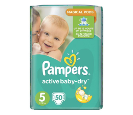 Pampers Active Baby Dry 5 Junior 11-18kg 50szt  (8001090487858 EconomPack)