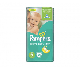 Pampers Active Baby Dry 5 Junior 11-18kg 64szt (4015400736370 GP)