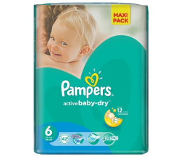Pampers Active Baby Dry 6 Extra Large 15kg+ 42szt (4015400736127 EconomPack)