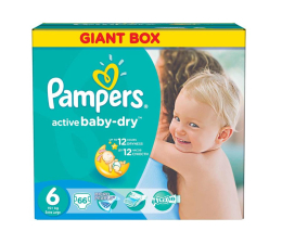 Pampers Active Baby Dry 6 Extra Large 15kg+ 66szt (4015400737155)