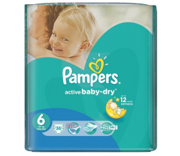 Pampers Active Baby Dry 6 Extra Large 15kg+ 36szt (4015400735823 VP        )