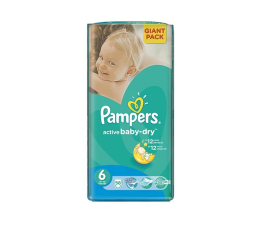 Pampers Active Baby Dry 6 Extra Large 15kg+ 56szt (4015400736424 Giant Pack)