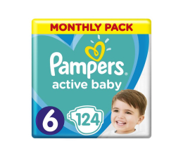 Pampers Active Baby MTH Extra Large 6 13-18kg 124szt (8001090911063)
