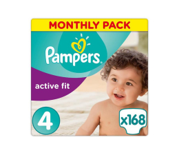 Pampers Active Fit 4 Maxi Na Miesiąc 168szt (8001090735003 Active Fit)