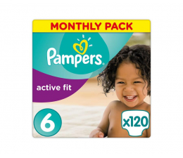 Pampers Active Fit 6 ExLarge Na Miesiąc 120szt ( 8001090735065 Active Fit)