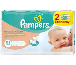 Pampers Chusteczki Nawilzane Natural Clean 2x 64szt (4015400637028 128szt)
