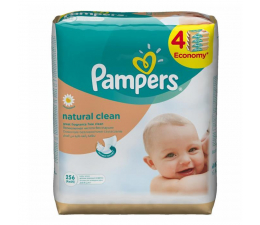 Pampers Natural Clean 4x64 szt. (4015400622482)