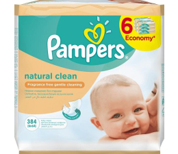 Pampers Natural Clean 6x64 szt.  (4015400689096)