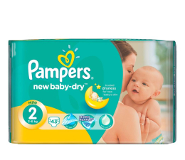 Pampers New Baby Dry 2 Mini 3-6kg 43szt (4015400704294 )