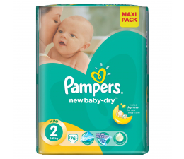 Pampers New Baby Dry 2 Mini 3-6kg 76szt (4015400735878 EconomPack)