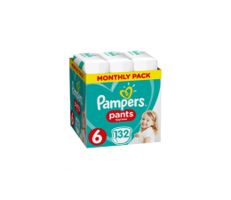 Pampers Pieluchomajtki Pants 6 ExLarge Na Miesiąc 132szt (8001090808080 Pants)