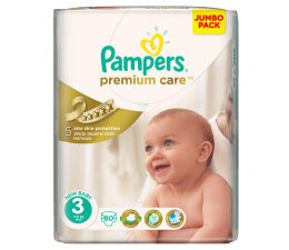 Pampers Premium Care 3 Midi 4-9kg 80szt (4015400507499)