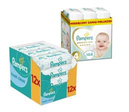 Pampers Premium Care 4 Maxi 8-14kg 168szt + Chusteczki (8001090379511 + 4015400622598 )
