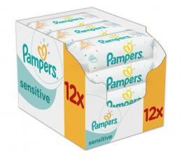 Pampers Sensitive 12x56 szt.  (4015400622284)