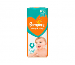 Pampers Sleep&Play 4 Maxi 9-14kg 50szt  (8001090669056)