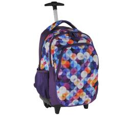 Paso Plecak na kółkach fioletowy w kolorowe wzory (16-997C 5903162027357)