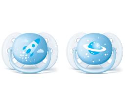 Philips Avent Smoczek Ortodontyczny 0-6m+ 2szt Niebieski (SCF222/20 Ultra Soft)