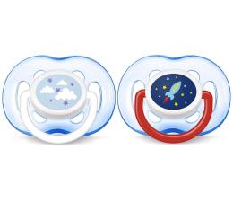 Philips Avent Smoczek Ortodontyczny 18m+ 2szt Niebieski (SCF186/26 Freeflow)