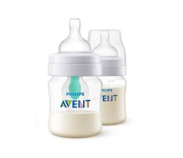 Philips Avent Zestaw 2x Butelka Anti-colic z Nakładką 125ml 0m+ (SCF810/24 Classic)