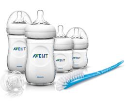Philips Avent Zestaw startowy Natural (butelki,smoczki,szczotka) (SCD290/01)