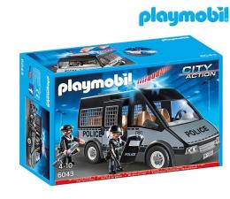 PLAYMOBIL Samochód brygady policyjnej ze światłem dźwiękiem (6043)