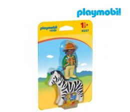 PLAYMOBIL Strażnik z zebrą (9257)
