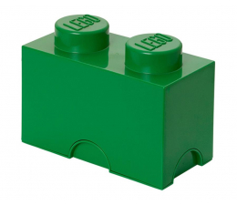 POLTOP LEGO Pojemnik Brick 2 ciemno zielony (40021734)