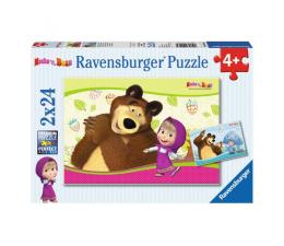 Ravensburger Masza i Niedźwiedź Puzzle 2 x 24 elementów (090464)