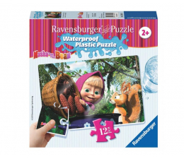 Ravensburger Masza i Niedźwiedź Wiewiórka plastik Puzzle 12 el. (056040)