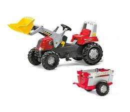 Rolly Toys Traktor Junior czerwony z łyżką i przyczepą (4006485811397)
