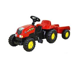 Rolly Toys Traktor Rolly Kid czerwony z przyczepą (4006485012121)