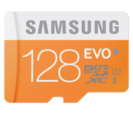 Samsung 128GB microSDXC Evo odczyt 48MB/s + adapter SD (MB-MP128DA/EU)