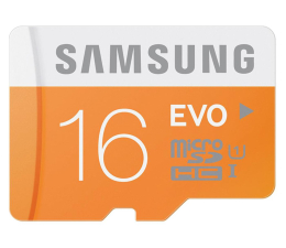 Samsung 16GB microSDHC Evo odczyt 48MB/s + adapter SD (MB-MP16DA/EU)