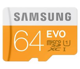 Samsung 64GB microSDXC Evo odczyt 48MB/s + czytnik USB 2.0 (MB-MP64DC/EU)