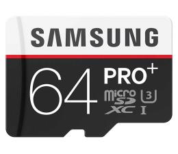 Samsung 64GB microSDXC Pro+ zapis 90MB/s odczyt 95MB/s (MB-MD64DA/EU)
