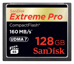 SanDisk 128GB Extreme Pro zapis 150MB/s odczyt 160MB/s  (SDCFXPS-128G-X46)